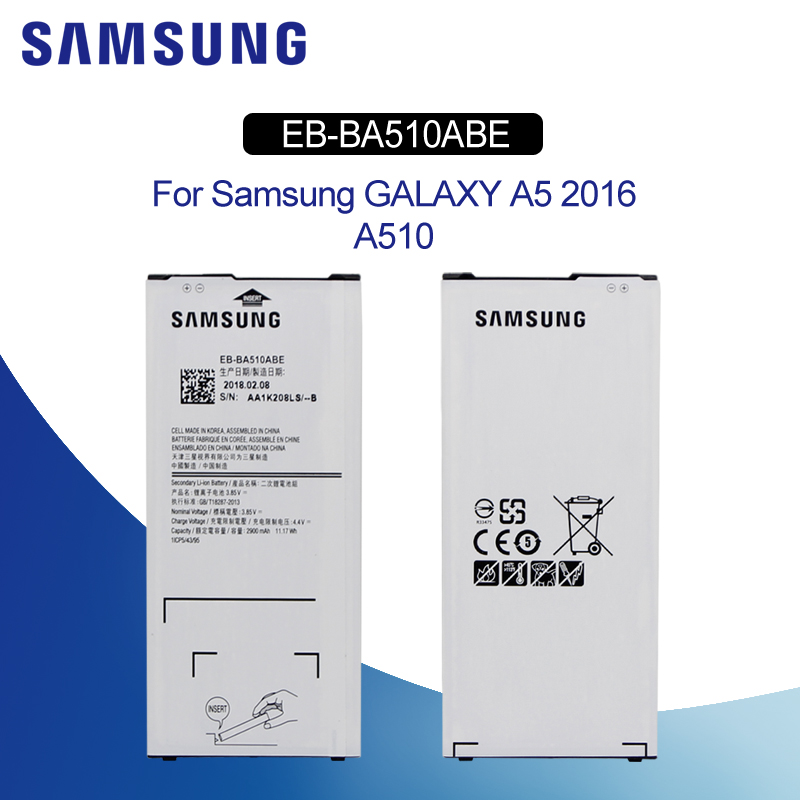 Original <font><b>Battery</b></font> For SAMSUNG A510 EB-BA510ABE 2900mAh For Samsung Galaxy <font><b>A5</b></font> 2016 A510F SM-A510M A510DS Replacement Phone <font><b>Battery</b></font> image