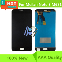 100 Test M681 Lcd For Meizu M3 Note LCD Display Digitizer Touch Screen Assembly L681H Cellphone