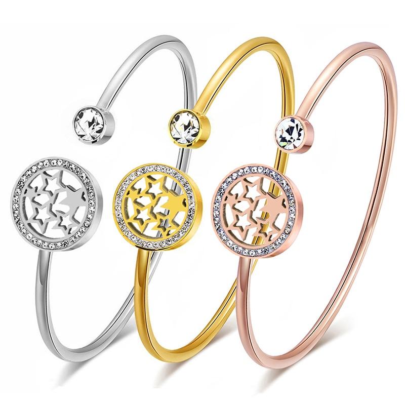 Купить женские браслеты манжеты и обручи из нержавеющей стали