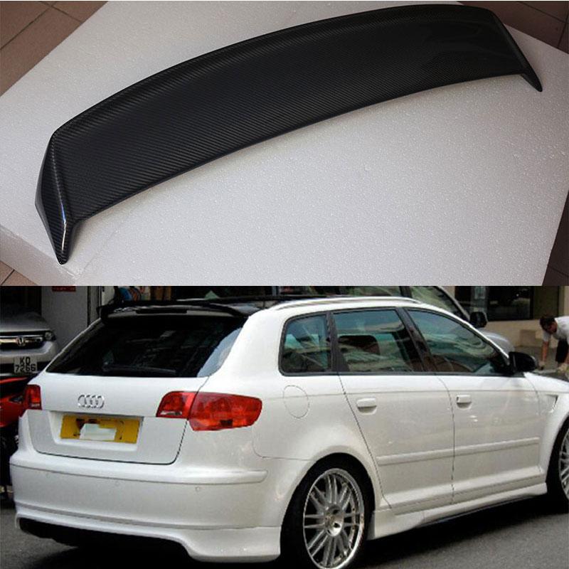 a3 8p sportback carbon fiber roof lip spoiler wing for. Black Bedroom Furniture Sets. Home Design Ideas