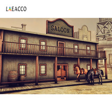 Laeacoo Old US Western Cowboy Saloon Scene Photography Backdrop Vinyl Customs Backgrounds Props For Photo Studio