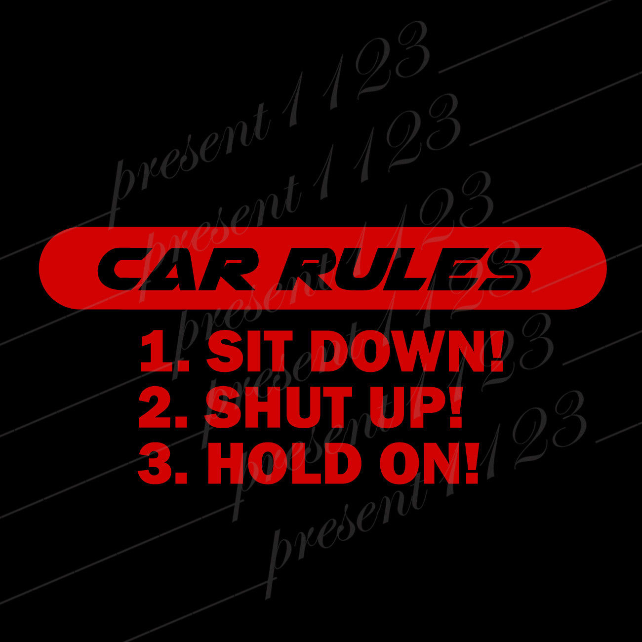 Купить автомобильный правила наклейка с силой автомобиль грузовик виниловая