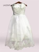 Sleeveless Vintage Bridal Dress with Appliques Knee Length Wedding Reception Dress