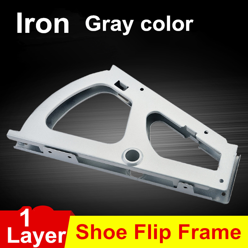 Cabinet hinge 1 layer shoe turning frame hidden shoe rack shoe iron flap hinge all metal parts shoe flip frame