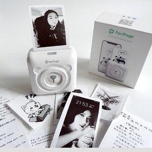 Image 3 - Mini POS Portable Printer Pocket Mobile Photo Ptinter Thermal Bluetooth 58mm Wireless Label Printer with Adhesive Sticker Paper