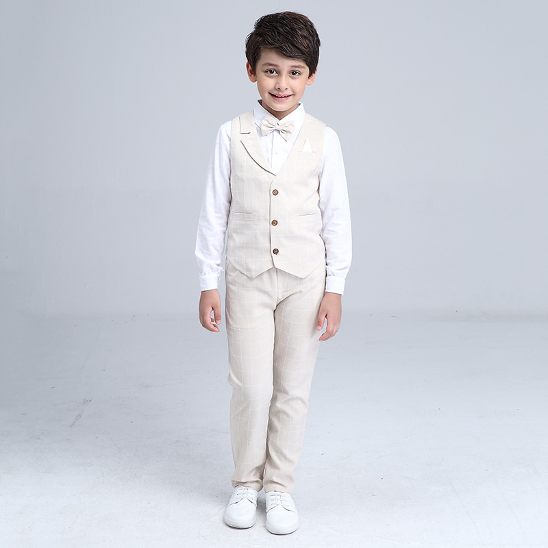 HTB1q8a4QXXXXXXeXXXXq6xXFXXXP - 2017 Boys Blazer Suit Kids Cotton Vest+Tie+Blouse+Pants 4 pieces/set Clothes Sets Boys Formal Blazers for Weddings Party EB156