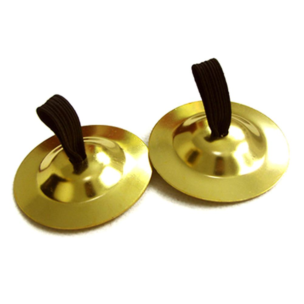1 Pair Mini Cymbal Orff Instrument Belly Dance Finger Cymbals Middle East Percussion Cymbals Dancing Props Musical Instrument