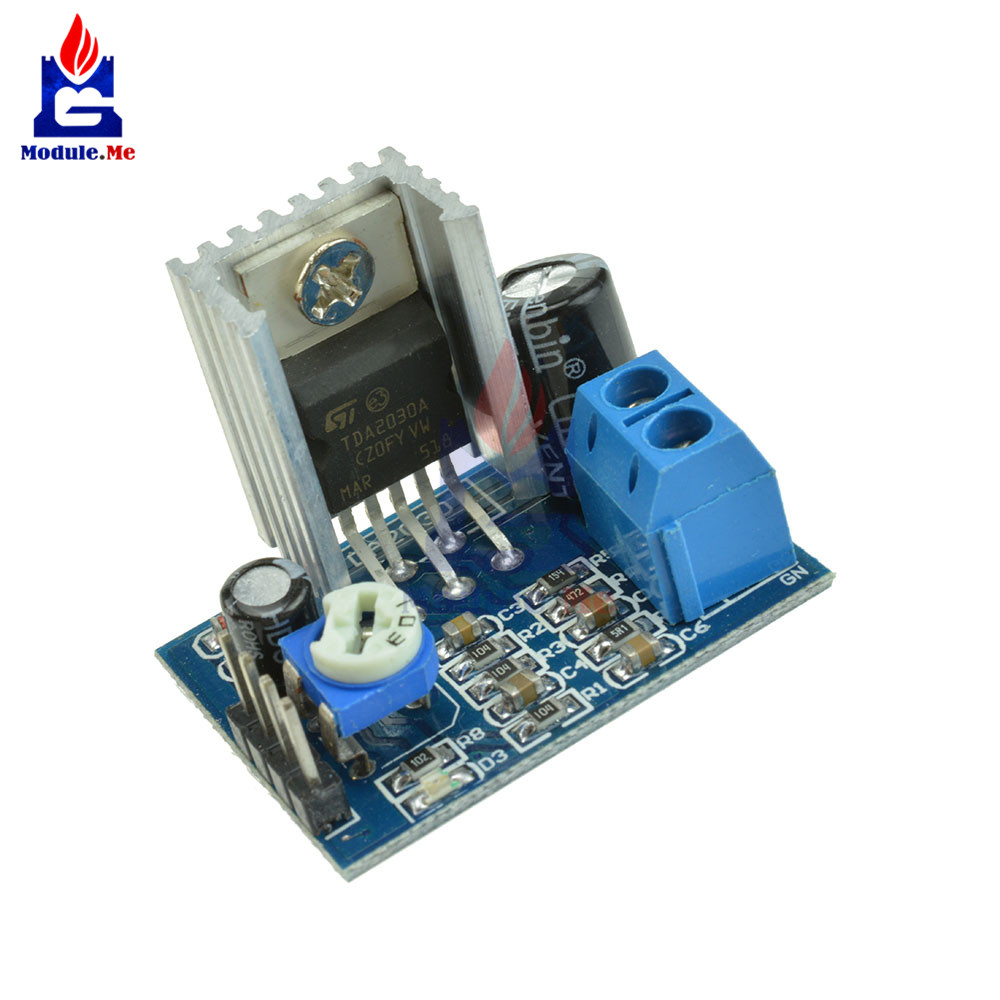1PC Audio <font><b>Amplifier</b></font> Board Module <font><b>TDA2030</b></font> TDA2030A 6-12V 18W Single Amp Power Supply image