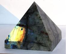 87mm Natural Moonstone natural labradorite pyramid Decoration free shipping