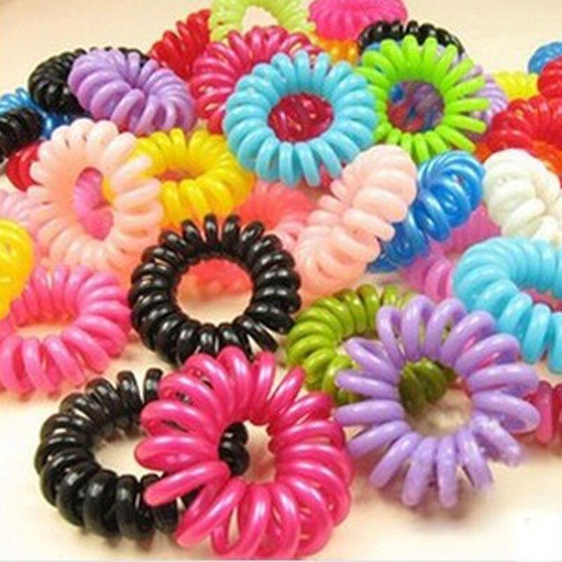 100Pcs Spiral Spin Screw Braider Hair Ties Spiral Shape Twist Elastic Hair  Bands Kid Ponytail Holder Tie Gum Hair Accessories-in Hair Accessories from  ... 78698837dbc