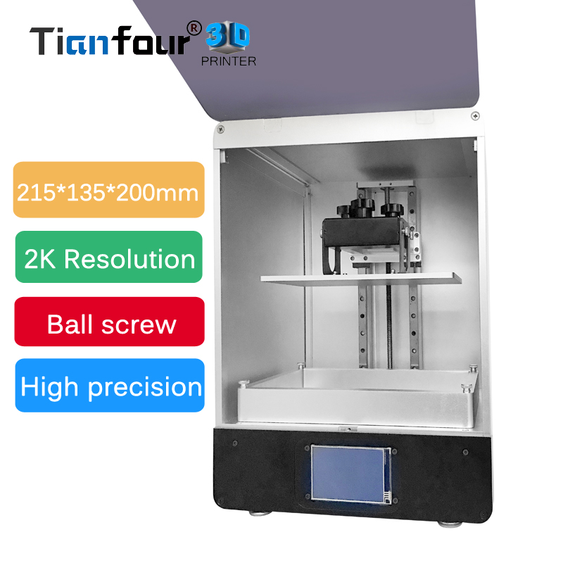 Tianfour new T200 LCD 3D Printer 215*135*200mm print volume high Precision SLA/DLP 3d printer