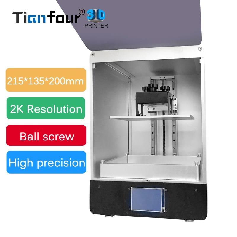Tianfour nouveau T200 LCD 3D Imprimante 215*135*200mm volume d'impression haute Précision SLA/DLP 3d imprimante