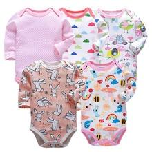5 pcs set Tender Babies newborn bodysuit baby babies bebes clothes long sleeve cotton printing infant clothing 0-24 Months