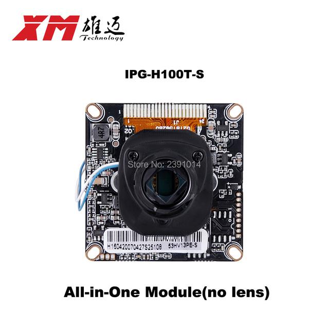 1.0 MegaPixel CMOS ONVIF IP Módulo Da Câmera 720 P IP Placa Da Câmera Via Chip Hi3518E V200