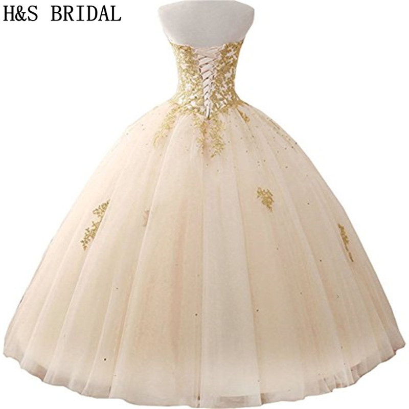 H&S BRIDAL Ball Gown Quinceanera Dresses Woman Party Gowns Long robe de soiree sequins Prom Dresses In Stock-in Quinceanera Dresses from Weddings & Events    2