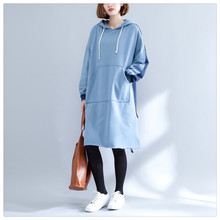 SuperAen Pluz Size Women's Clothing Thick Long Hoody Sweatshirts Korean Style Loose Wild Women Hooded Sweatshirt Autumn New 2017
