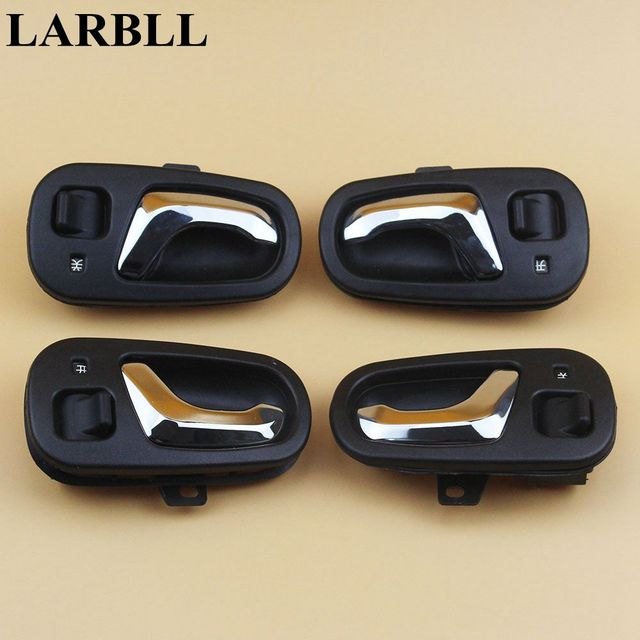 Larbll chrome knob interior inner inside door handle front rear left larbll chrome knob interior inner inside door handle front rear left right fit suzuki swift geo planetlyrics Images