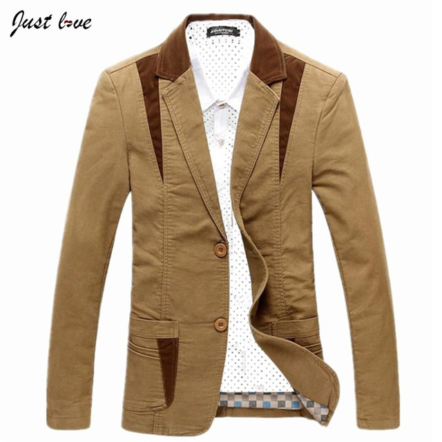 Men Cotton Casual Blazer New Men's Plus Size  M-6XL Business Casual Jacket Coat Male Fashion Solid Color Men's Cardigan Jacket