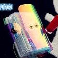 2016 Nueva moda dazzle láser transparente conjunto de tarjeta de paquete de la tarjeta de múltiples mujeres moda colorida de TPU ambiental bolso de la tarjeta mujeres