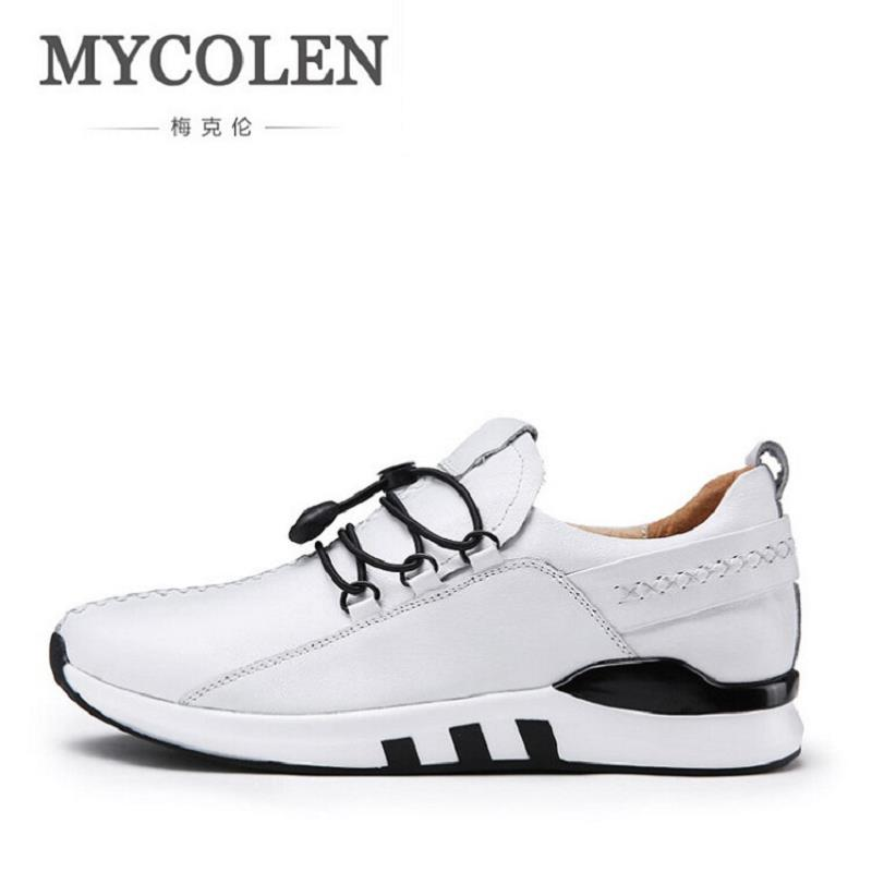 MYCOLEN Autumn Male Shoes Comfort Soft Walking Driving Shoes Men's Casual Shoes Lace Up Men Trainers Shoe Footwear Krasovki male casual shoes soft footwear classic men working shoes flats good quality outdoor walking shoes aa20135
