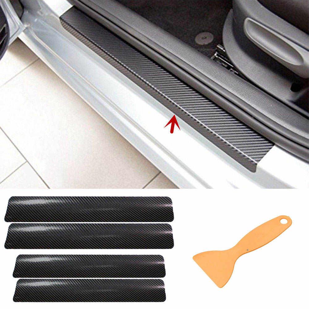 4pc Protetores de Soleira Da Porta Do Carro Adesivos Universal para Todos Autmobile Decoração de Interiores Anti Zero Chinelo Capa Decal Acessórios