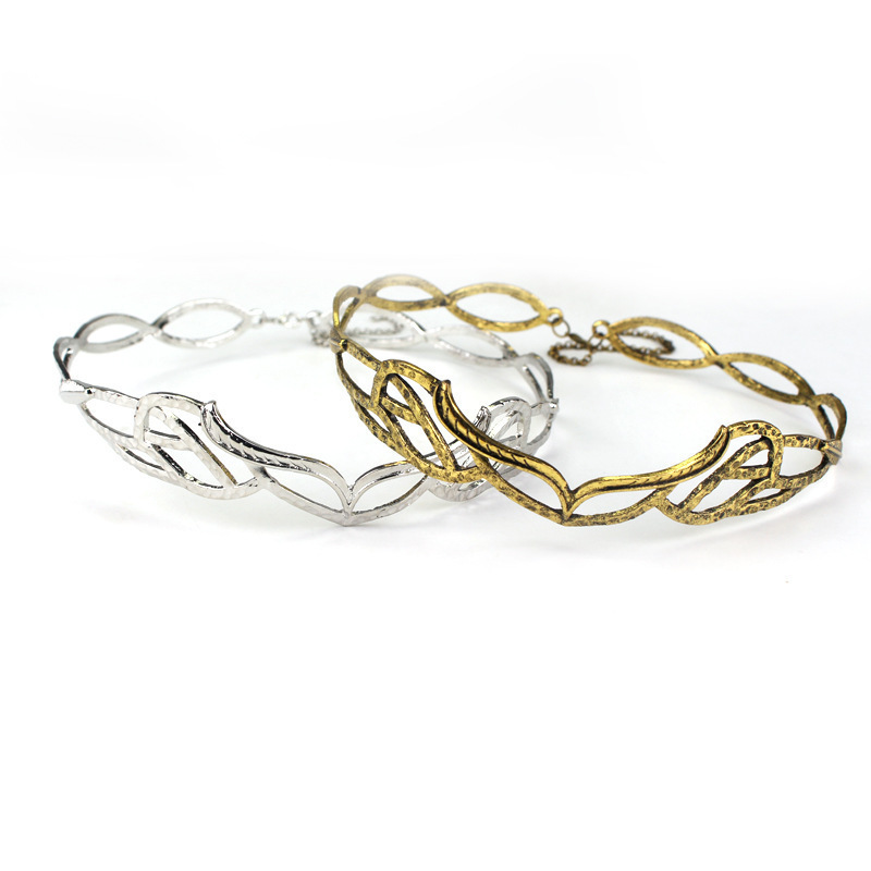 Новые украшения MQCHUN! Винтажная Корона эльфийского венка золотого и серебряного цвета, аксессуар для костюма
