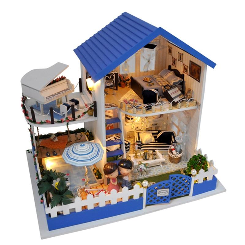 ФОТО Handmade Doll House Furniture Miniatura Diy Doll Houses Miniature Dollhouse Wooden Toys For Children Grownups Birthday Gift TB1
