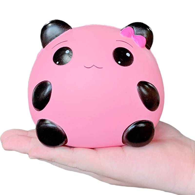 Jumbo Cute Panda Girl Squishies Slow Rising Sweet Scented Soft Novelty Squeeze Toys Stress Relief Fun Xmas Gift Toy For Children
