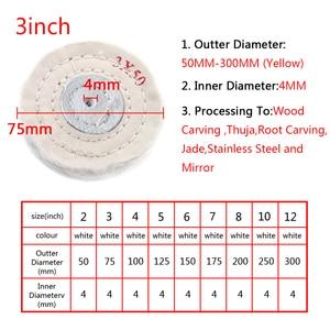 "Image 4 - 2"" 12"" Wheels Buffing Polishing Wheel Cotton Lint Cloth Buffing Wheel Gold Silver Jewelry Mirror Polishing Wheel"