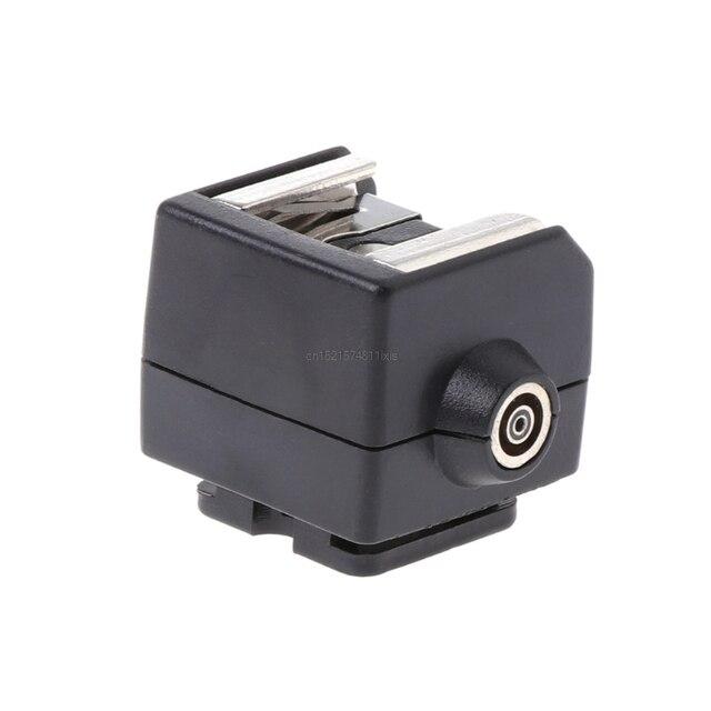 Mới SC 2 Hot Shoe Adapter Chuyển Đổi Đồng Bộ PC Ổ Cắm Cho Canon Nikon Pentax Camera