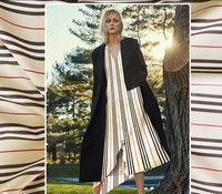 2017 fashion British style Japanese imports stripe cotton small man figure material shirt half skirt dress fabric fabric