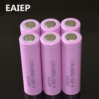 6 chiếc 100% Nguyên Bản Li-ion ICR 18650-26F 3.7 V 2600 mAh 18650 Lithium Pin Sạc Cho Đèn Pin