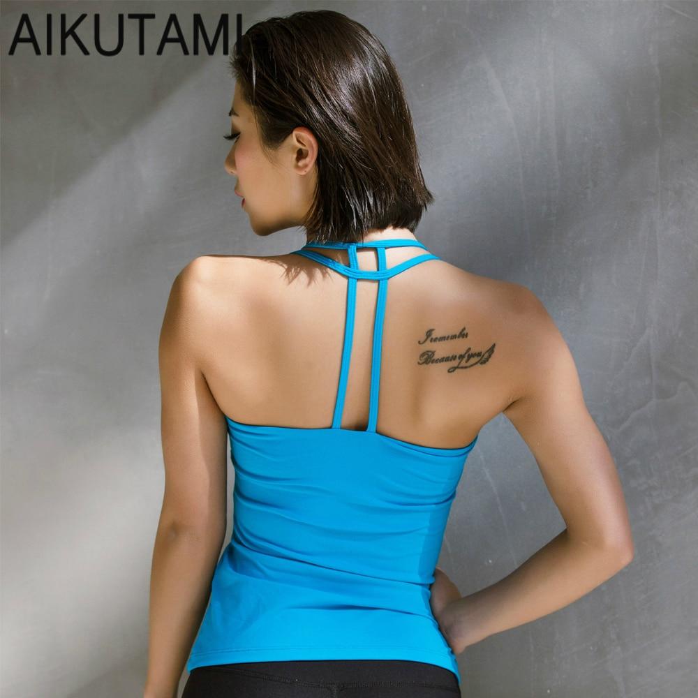 Sport Shirt Women Yoga Top Sexy Backless Slim Fitness Tank