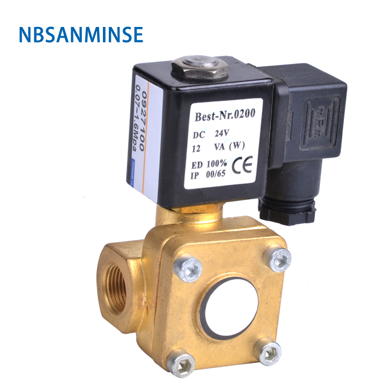 NBSANMINSE 1/4 3/8 1/2 3/4 1 Pilot operated Diaphragm two way brass solenoid valve 0927000