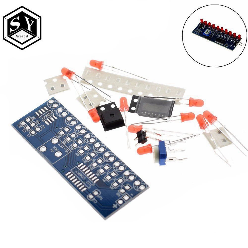 2019 Latest Design Ne555+cd4017 Running Led Flow Led Light Electronic Production Suite Diy Kit Refreshing And Beneficial To The Eyes Integrated Circuits Active Components