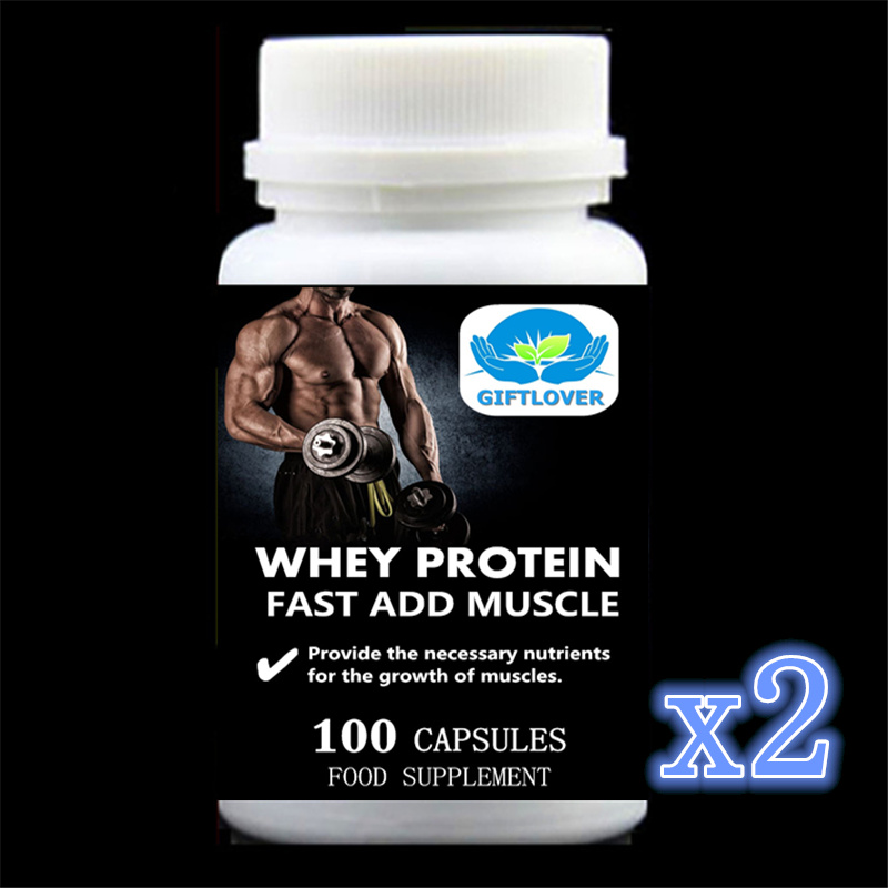 Fast Add Muscle;Whey Protein;5,000mg Provide the necessary nutrients for the growth of muscles;Gain Weight - 100pieces/bottle