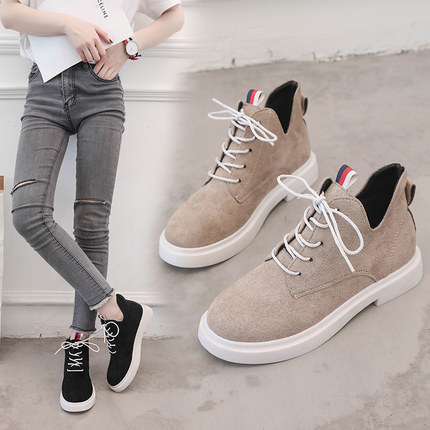 New single casual high-top round ankle boots 53