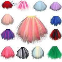 Tutu Skirt Silps Swing Rockabilly Petticoat Underskirt Crinoline Fluffy Pettiskirt For Wedding Bridal Retro Vintage Women
