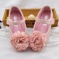 Осень Детская Одежда Обувь Для Девочки Красивый Цветок Плоским Принцесса Обувь Мода Удобная ИСКУССТВЕННАЯ Кожа Детская Обувь Девушек, Платья, Обувь