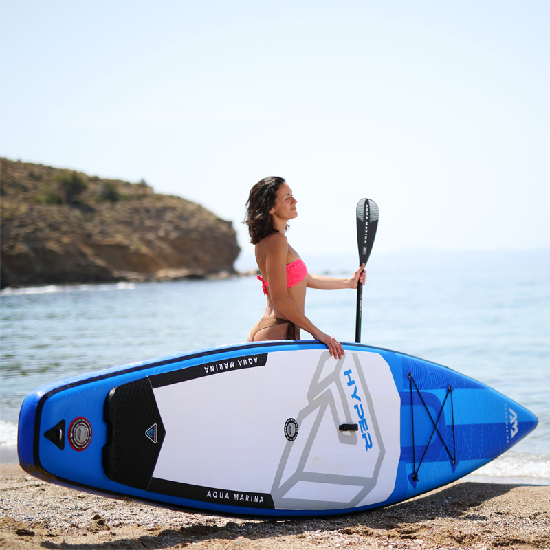 350*79*15 cm AQUA MARINA 2019 HYPER gonfiabile sup stand up paddle board gonfiabile tavola da surf tavola da surf veloce velocità di corsa di acqua
