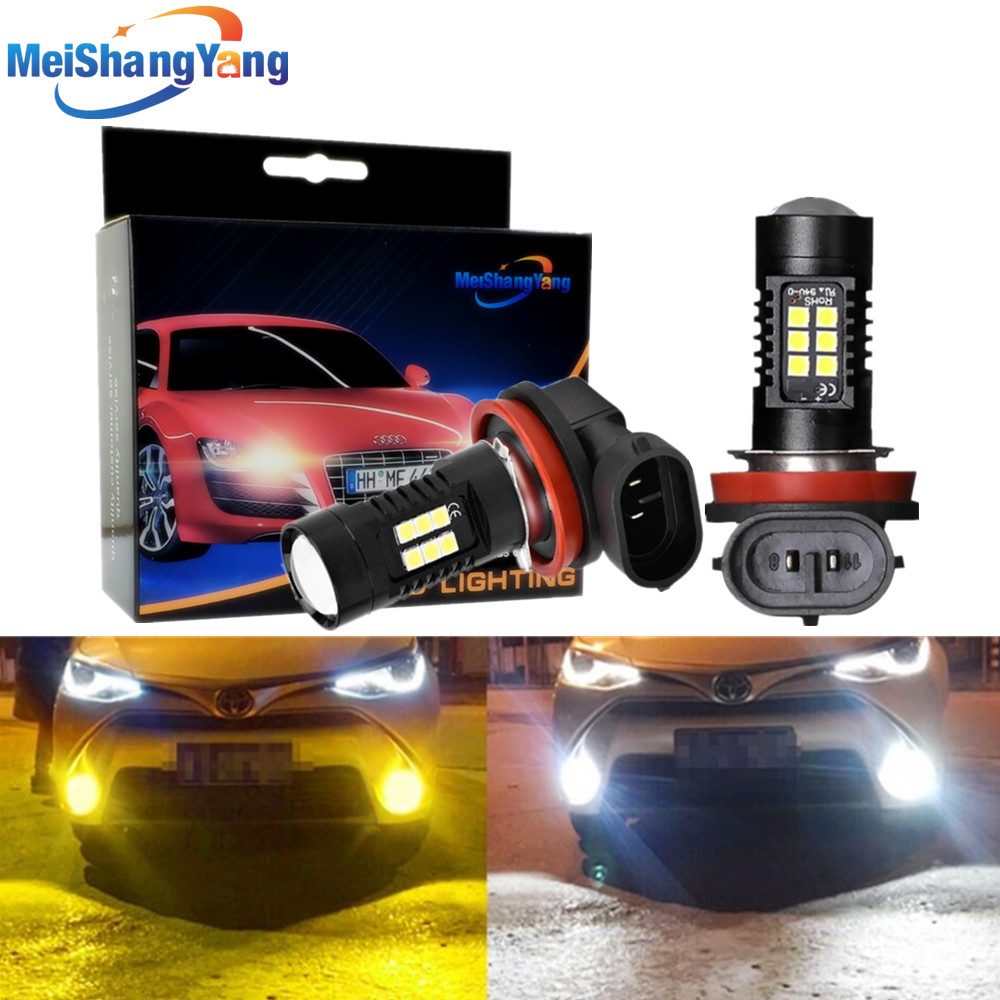 2Pcs H8 H11 Led Bulb HB4 Led Bulbs HB3 9006 9005 SMD Lights 1200LM 6000K 12V/24V White Driving Running Car Lamp Auto Light Bulbs