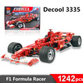 1242pcs decool 3335 F1 Formula Racing Toy building blocks 1:8 car model self-locking bricks Leping Compatible
