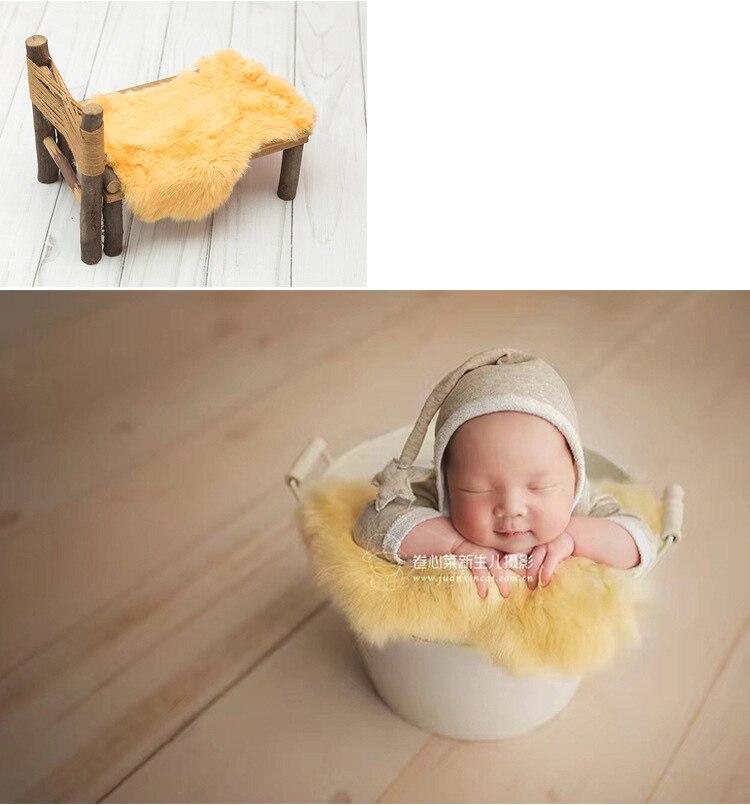 Newborn fotografia adereços cobertor de pele do