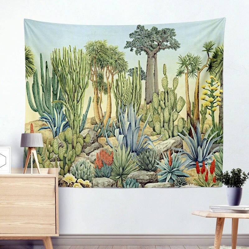 Green Cactus Beach Towel Blanket