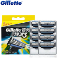 Original Gillette Mach 3 Men's Face Shaving Razor Blades Brand Mach3 Beard Shave Blade For Men 8Pcs/Pack