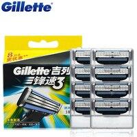 Original Gillette Mach 3 Men S Face Shaving Razor Blades Brand Mach3 Beard Shave Blade For