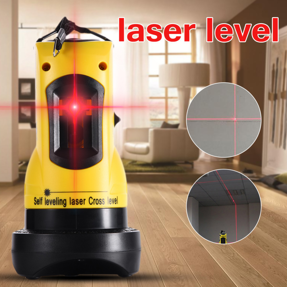 360 Degrees Rotary Slash Functional Self-leveling Hight Adjustable DIY Economic 2 (1V, 1H) Cross Lines Automatic Laser Level zokoun bd02r rubber covered slash functional self leveling fall protection diy economic 2 1v 1h cross lines laser level