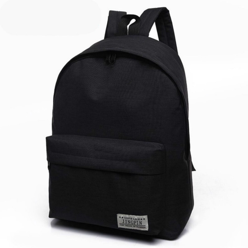 2018 Cheap Mochila Canvas Backpack Black Women Backpack School Bags For Teenagers Couple Backpacks Casual 4 color Durable