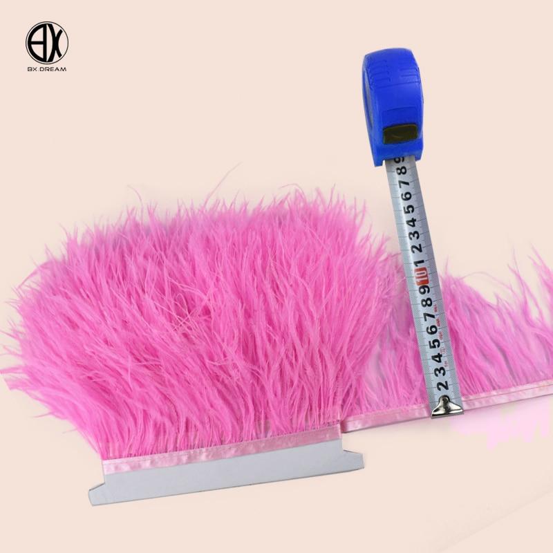 5 метров 10 метров 8-10 см розовый страуса волосы отделкой платье/платье аксессуары черный, белый цвет перо страуса обрезки DIY