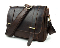 Good Quality Vintage 100 Guarantee Real Genuine Leather Men Messenger Bags Cross Body Cowhide MD J350